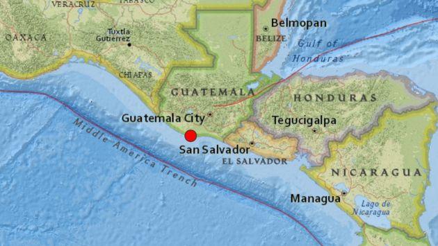 Guatemala: Se registró un sismo de 5,1 grados. (USGS)