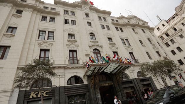 El Hotel Bolívar ocupa 4,000 m2 frente a la Plaza San Martín. (Piko Tamashiro)