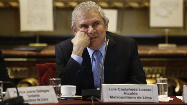 Aprobación de Luis Castañeda cae a 45% y su rechazo sube a 51%. (Renzo Salazar)