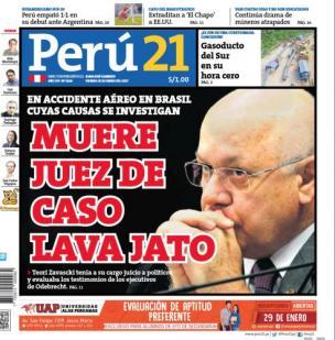Muere juez de caso Lava Jato