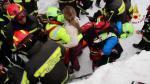 Italia: Localizan a 10 sobrevivientes en hotel sepultado por avalancha de nieve - Noticias de mujeres trabajadoras