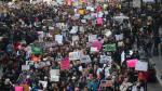 Cientos de miles de personas protestan en las calles de Washington contra Donald Trump (AFP).