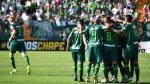 Chapecoense empató 2-2 ante Palmeiras en su primer partido tras la tragedia. (AFP)