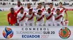 Perú vs. Venezuela EN VIVO chocan por el Sudamericano Sub 20 - Noticias de fernando lopez