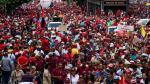 Oposición y gobierno marchan en el 'Día de la democracia' en Venezuela. (EFE)