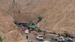 Continúan los trabajos de rescate de los seis mineros en Arequipa