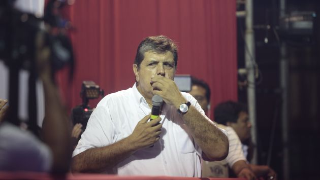 Alan García en diversas ocasiones ha dicho que está dispuesto a colaborar con las pesquisas de la Fiscalía. (Roberto Cáceres)