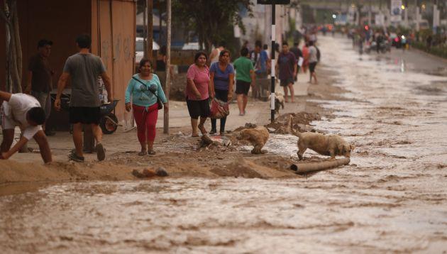 Se activó otra quebrada y provocó huaico en Jicamarca. (Mario Zapata)