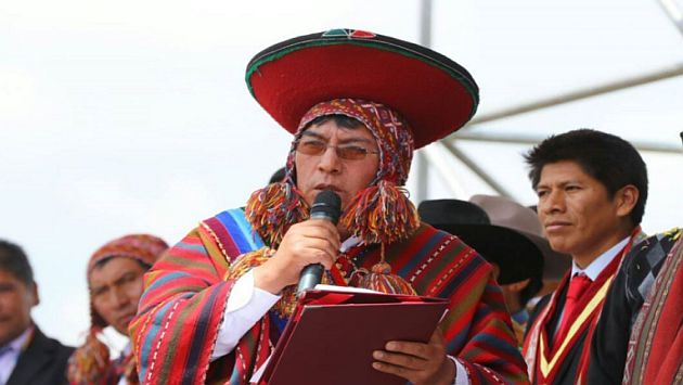 Alcalde de Chinchero agradeció en quechua al Gobierno por construcción de aeropuerto. (Andina)