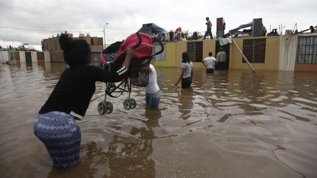 Huaicos dejan hasta el momento 72 mil afectados en todo el país. (Renzo Salazar)