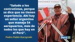 PPK y sus frases de esta mañana en Chinchero - Noticias de gasoducto del sur