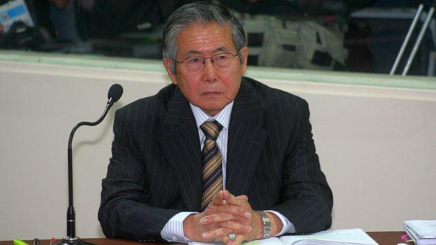 Alberto Fujimori tiene una hernia en la columna.