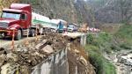 Carretera Central: Vehículos quedaron varados por el cierre de la vía - Noticias de rutas alternas