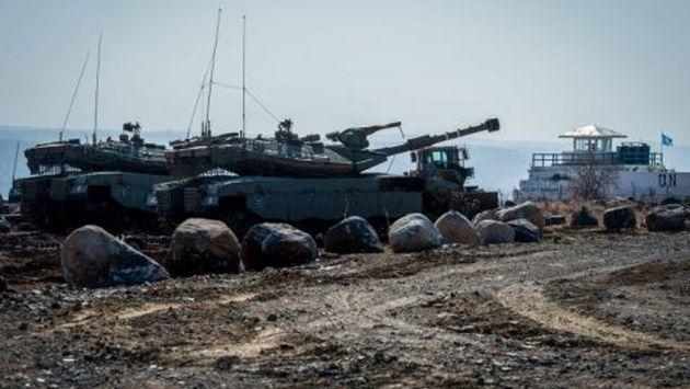 Ataque fue en respuesta a disparo desde un tanque que explotó  en la zona norte de Israel (Basel Awidat / Flash 90)