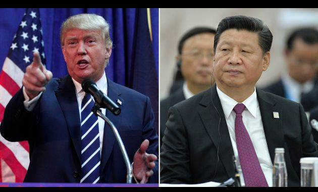 Donald Trump, presidente de China y  Xi Jinping, presidente de China.