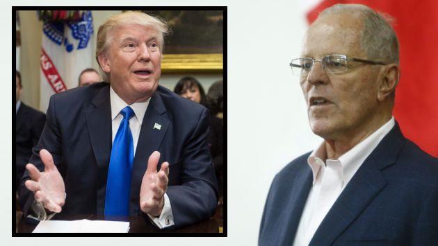 En breve, PPK conversará vía telefónica con Donald Trump. (AFP/Perú21)