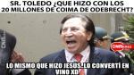 De la indignación a la risa: Alejandro Toledo se merecía sus memes y aquí están - Noticias de ministerio del interior