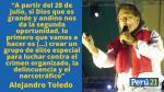 Alejandro Toledo y las frases que dejó en su última campaña presidencial - Noticias de sport huancayo