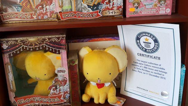 Peruana entra a los Récord Guinness por su colección de serie animada japonesa. (Otakupress.pe)
