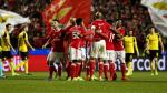 Benfica con André Carrillo venció 1-0 al Borusssia Dortmund por la Champions League - Noticias de eduardo carrillo