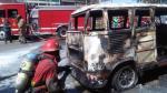 La Victoria: Incendio en auto generó pánico entre vecinos - Noticias de luis castaneda