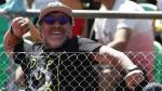 Diego Armando Maradona viajó a Madrid para alentar al Napoli. (EFE)