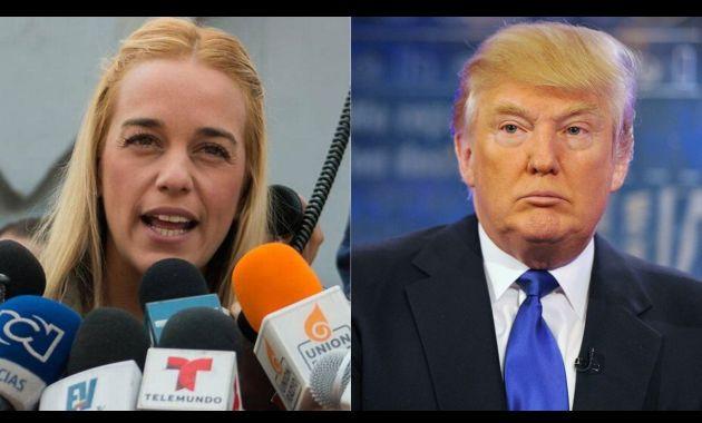 Lilian Tintori y el presidente de EE.UU., Donald Trump (FeedNoticias.com).