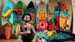 Conozca al artista que pinta sobre tablas de surf - Noticias de surf