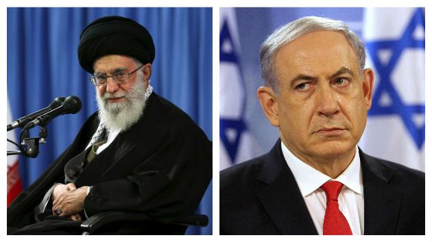 Ali Jamenei, el líder supremo de Irán, y Benjamín Netanyahu, primer ministro de Israel.