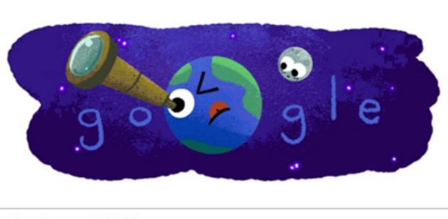 Nuevo doodle en homenaje a los nuevos planetas (Captura)