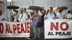 Protesta por el peaje en la Av. Separadora Industrial. (Renzo Salazar)