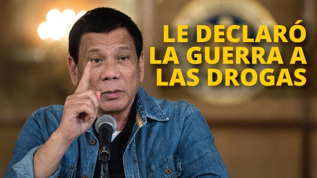 El presidente Rodrigo Duterte impulsa la guerra contra las drogas. (AFP)