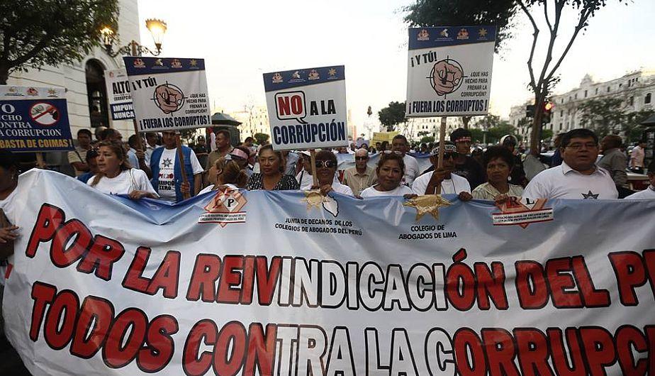 Así se desarrolló la segunda marcha contra la corrupción [Fotos]