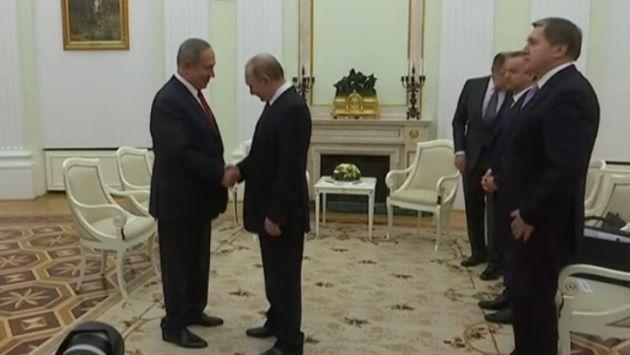 Benjamín Netanyahu se reúne por cuarta vez con Putin (Captura)