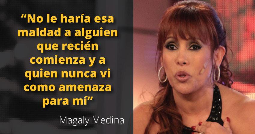 Magaly negó estar relacionada a la salida de la periodista Carolina Dabdoub.