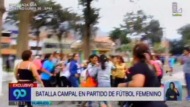 Huánuco: Mujeres se enfrentan tras un partido de fútbol femenino. (Captura)