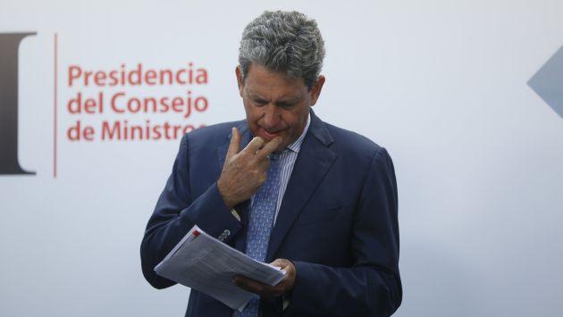 Ministro de Economía mostró su preocupación por posible derogación del D.Leg 1333. (Mario Zapata)