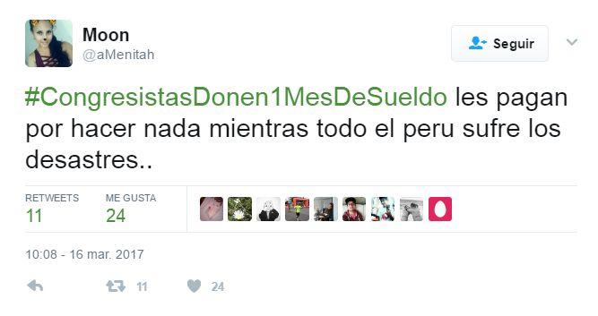 #CongresistasDonen1MesdeSueldo