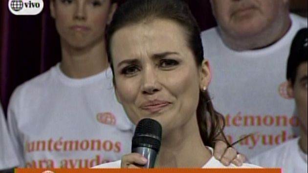 Maju Mantilla lloró por quinto huaico que afecta a su ciudad natal de Trujillo. (América TV)