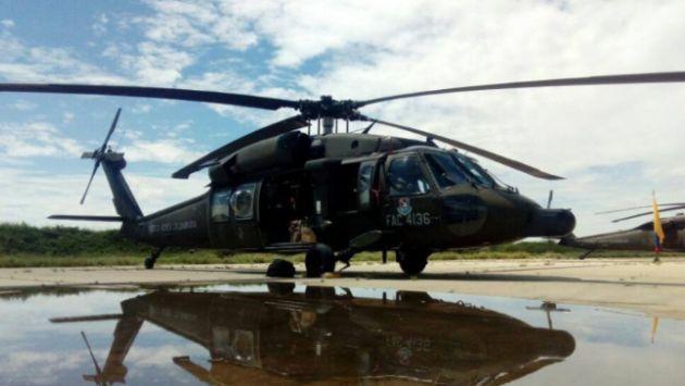 Piura: Helicópteros de la Fuerza Aérea de Colombia arribaron a la región. (Andina)