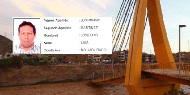 La Unión de Estudiantes de Arquitectura de Lima, que denunció que José Luis Justiniano Martínez no está habilitado por el Colegio de Ingenieros del Perú. (Foto: Composición)