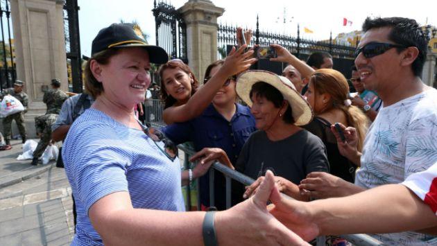 Nancy Lange agradeció a peruanos que colaboraron con donaciones a damnificados. (Andina)
