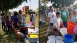 Chorrillos: Desesperados vecinos hacen largas colas para conseguir agua [VIDEO] - Noticias de camiones cisternas