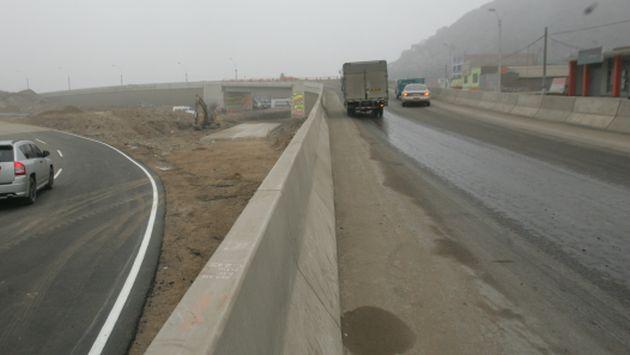 Carretera Ramiro Prialé es parcialmente cerrada por la Municipalidad de Lima. (Perú21)