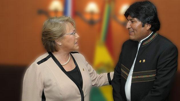 Bachelet, presidenta de Chile, y Morales, presidente de Bolivia. (Andina)