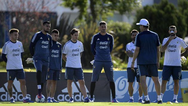 La selección argentina se prepara. (AFP)