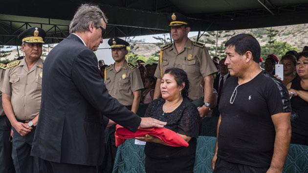 El ministro del Interior Carlos Basombrío, presente en la ceremonia. (Andina)