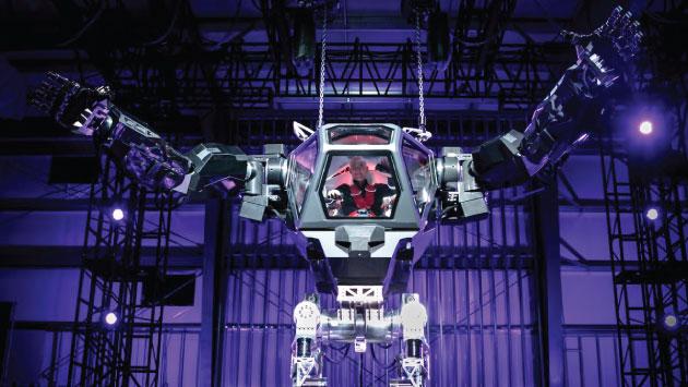 Jeff Bezos estuvo en la cabina del robot. (Twitter de Jeff Bezos)