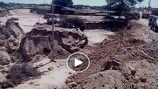 La Libertad: San Pedro de Lloc se inundó por desborde del río ... - Diario Perú21