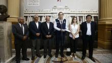Vizcarra acudió a Congreso y se reunió con 11 parlamentarios.  (Renzo Salazar/Perú21)